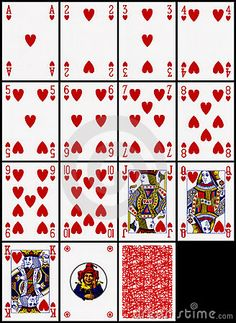 Playing cards - the hearts suit