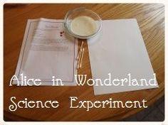 Alice in Wonderland Science Experiment - Enchanted Homeschooling Mom