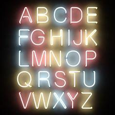 neon tube alphabet letters max
