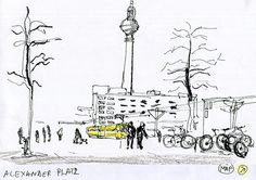 #berlin #alexanderplatz New Adventures, My Works, Art Work, Berlin, Sketch, Urban, Map, Drawings, Architecture