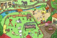 Describing a Farm - Animals. Farm Pictures, Hidden Pictures, Spanish Practice, Teaching Spanish, Picture Comprehension, Farm Activities, Action Verbs, Picture Writing Prompts, Farm Theme