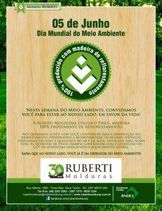 05 de Junho: Dia Mundial do Meio Ambiente              Nesta semana do Meio Ambiente, convidamos você para estar ao nosso lado, em favor da vida!