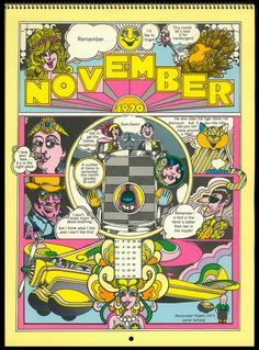 Psychedelic Hallmark Calendar, 1970 - 11/70 by MewDeep, via Flickr