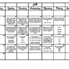 This summer activity calendar includes 2nd grade Common Core standards for ELA and Math....