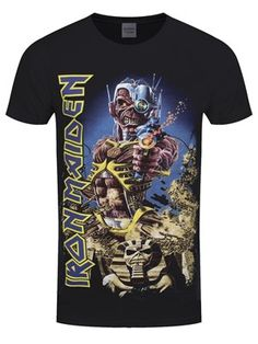 If you can't get enough of Iron Maiden's iconic 'Best Of' album, Somewhere Back In Time, then this t-shirt is just what you need to get your fix! Or maybe you were lucky enough to see the heavy metal legends on their 2008-2009 World tour of the same name? Either way, the epic album artwork makes a wicked t-shirt and is a must-have for all fans! Official merchandise. Free UK Delivery on orders over £50