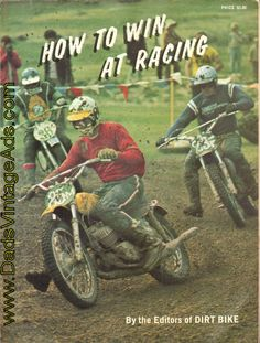 "1972 Vintage Book ""How to Win at Racing"" by the Editors of Dirt Bike Motorcycle Magazine"