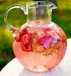Strawberry Watermelon Mint Infused Water ♥