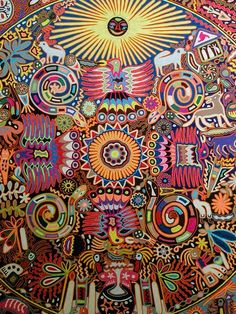 Huichol Indian bead art