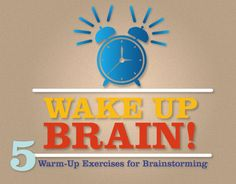 Wake Up Brain! is a fun and cheery presentation that outlines some warm-up exercises for brainstorming. Middle School Art, Too Cool For School, Brainstorming Methods, Cool Slides, Whole Brain Teaching, Arts Integration, Workout Warm Up, Teaching Activities, Note