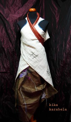 we love silk ! convertible double-sided silk cloth worn on top of silk skirt by Kika Karabela — AGATHI E.E.- KIKA . 49 , Arachovis str. 106 81 Athens, Greece CLOTHING STORE / agathi.ee@gmail.com / +30 2108223604