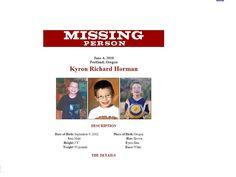Kyron Horman Missing Child