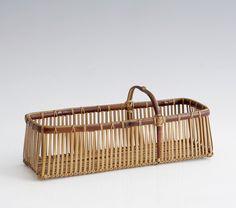 Yokota Hōsai, 'Rectangular Ikebana Flower Basket,' Showa era (1926, 89), ca. 1950's, Erik Thomsen