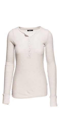 Michael Lauren Vance Long Sleeve Fitted Henley in Heather Grey / Manage Products / Catalog / Magento Admin