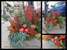 Fall Window Boxes.  #Anthropologie #PinToWin
