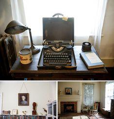 William Faulkner's Home Illustrates His Impact On The South : NPR William Faulkner, East Of Eden, Bookshelves, Authors, Writers, Illustration, Cuthbert, Work Spaces, Rowan