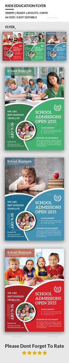 Kids Education Flyer Template #design Download: http://graphicriver.net/item/kids-education-flyer-/12428119?ref=ksioks