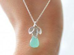 Stříbrný náhrdelník s Chalcedonem Pendant Necklace, My Love, Silver, Jewelry, Jewlery, Money, Jewels, Jewerly, Jewelery