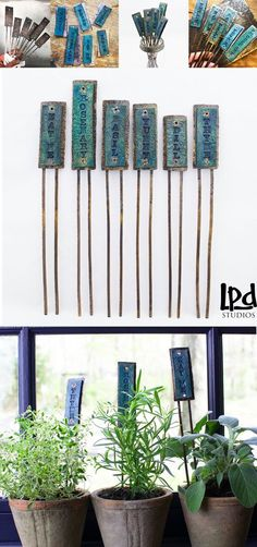 Look what's new in the studio, just in time for Spring planting!! With a brilliant peacock blue leather front and distressed copper metal stands, these hand mad