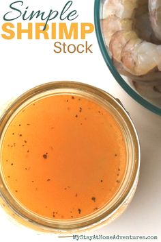 This is our simple shrimp stock we use in our home. This recipe won't take long to prepare and doesn't require a lot of ingredients.