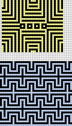 Artwork by at Grid Paint. Tapestry Crochet Patterns, Bead Loom Patterns, Crochet Stitches Patterns, Mosaic Patterns, Beading Patterns, Cross Stitch Patterns, Beading Tutorials, Bracelet Patterns, Knitting Patterns