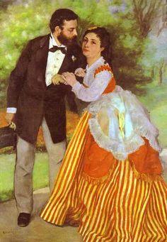 Alfred Sisley & His Wife..by Renoir