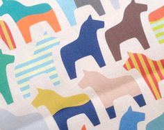 Hey, I found this really awesome Etsy listing at https://www.etsy.com/listing/179889863/swedish-dala-horse-fabric-laurenmary