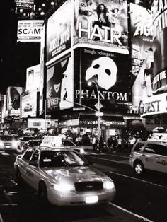 Even in black and white, Broadway is magical.