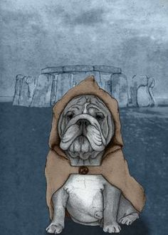 English Bulldog with Stonehenge Poster Print by  Barruf - Item # VARPDXB2963D