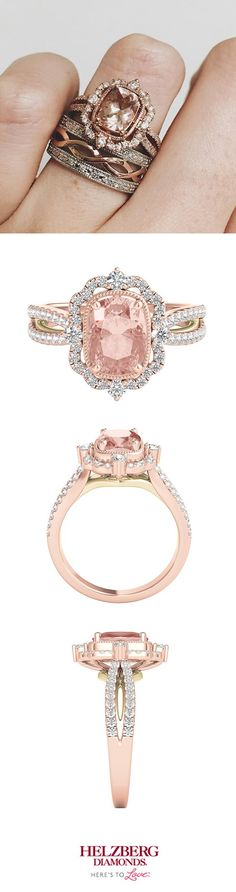 We just can't get enough of this ring by #ZacPosen. Thanks for sharing, Elle! #TRULYZacPosen #Engagement #Wedding #Jewelry #RoseGold #Diamond #Morganite #Fashion #Love