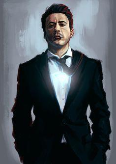 robert john downey jr. (anthony edward stark / iron man) by redpandadee