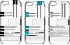 in1 Clear iPhone Case with Tiny Toolbox for iPhone 5/5S