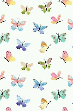 butterfly, wallpaper, and background image Butterfly Background, Background Patterns, Cute Wallpapers, Wallpaper Backgrounds, Emoji Wallpaper, Colorful Wallpaper, Iphone Wallpapers, Butterfly Wallpaper Iphone, Watercolor Wallpaper Iphone