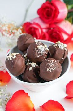 Healthy Chocolate Raspberry Truffles Recipe (Vegan, Gluten Free, Paleo, Refined Sugar Free)   Sprouted Routes