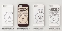 Korea SNS LINE Friends BROWN/CONY Character Case Cover For Apple iPhone 5 / 5S #LINEPLUS