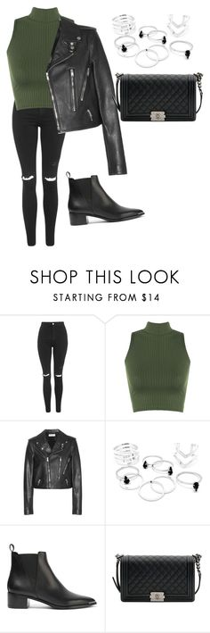 """My Style"" by cecilema on Polyvore featuring Topshop, WearAll, Yves Saint Laurent, Acne Studios and Chanel"