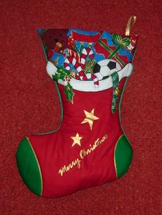 Just 2 remaining. 1 x left facing & 1 x right facing boot. Plain fabric on the back Can be personalised with a name (in fabric paint) free of charge Quilted Christmas Stockings, Holiday Decor, Fabric, Free, Painting, Design, Tejido, Tela, Painting Art