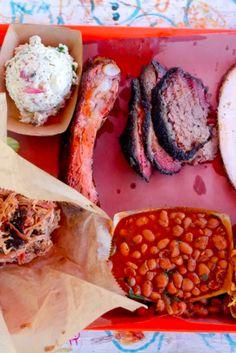 Barbecue plate at La Barbecue in Austin