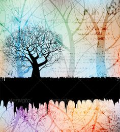 Abstract background  #GraphicRiver         Creative grungy banner with tree silhouette. eps10 layered vector file.     Created: 25July11 GraphicsFilesIncluded: JPGImage #VectorEPS Layered: Yes MinimumAdobeCSVersion: CS Tags: abstract #aged #background #banner #beautiful #black #branch #colorful #creative #design #environment #eps10 #forest #growth #grunge #landscape #nature #outdoors #plant #silhouette #tree #vector #wood