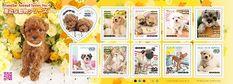 Vertraute Tiere auf Briefmarken aus Japan 2