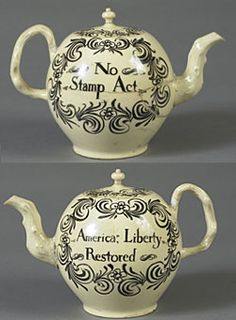 Made between 1766 and 1770, this teapot boldly proclaims opposition to the British tax on all printed materials. Research by Museum curators indicates that there are no known identical teapots to this one. #seriouslyamazing