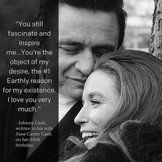 Melt my cold, cold heart...Johnny Cash writing to June Carter Cash on her 65th birthday. She was born #onthisday in 1929, and the two were married from 1968 until their deaths in 2003. #love #quoted