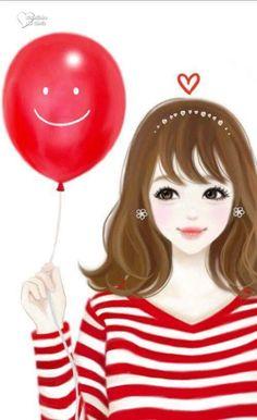 Imagen de Enakei, girl, and kawaii Girly M, Korean Anime, Korean Art, Girly Drawings, Art Drawings, Lovely Girl Image, Cute Girl Drawing, Cute Cartoon Girl, Cute Girl Wallpaper