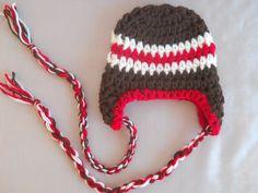 Baby Boy Hat, Newborn Baby Boy Hat, Baby Boy Crochet Hat, Baby Boy Ear Flap Hat Photo Prop. $14.00, via Etsy.