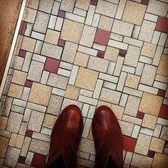 #ihavethisthingwithfloors #fromwhereistand #inmyelement #timberland #boots #tiles