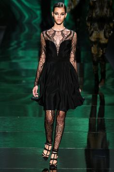 Fall 2013 New York Fashion Week Monique Lhuillier's Lacy Little Black Dress