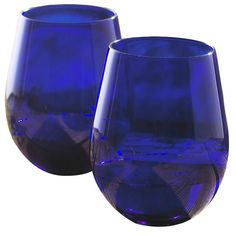 stemless wine glasses. Connie