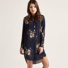 Floral Bundle L/Slv Shirt Dress | Apricot