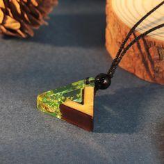 Wooden Jewelry, Resin Jewelry, Arrow Necklace, Pendant Necklace, Diy Jewelry Inspiration, Wood Resin, Boho Look, Handmade Wooden, Metal