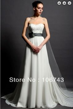 >> Click to Buy << free shipping 2016 custom sweetheart flower womens a-line New SALE hot sexy lace beading chiffon wedding dresses Bridal Gowns #Affiliate