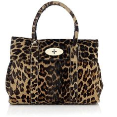 Mulberry Bayswater Camel Leopard Haircalf ($1,235) ❤ liked on Polyvore featuring bags, handbags, accessories, purses, calf hair handbags, leopard handbag, man bag, purse pouch and mulberry handbags